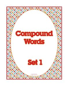 compound word cards #compound #words #centers