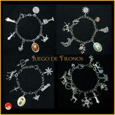 Game of thrones bracelets by Pendientera.  http://pontecosasenlasorejas.wordpress.com/