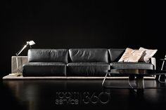 Border Designer Leather Sectional by Gamma Arredamenti