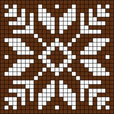 New Crochet Granny Square Chart Perler Beads Ideas Filet Crochet, Crochet Chart, Crochet Granny, Cross Stitch Charts, Cross Stitch Embroidery, Embroidery Patterns, Cross Stitch Patterns, Cross Stitching, Crochet Stitches For Blankets
