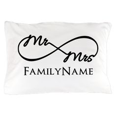 Custom Infinity Mr. and Mrs. Pillow Case