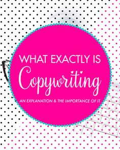 You may have been seeing the term copy or copywriting buzzing about lately and wondered exactly what it was. Up until my rebrand in March, I wondered the same thing, so don't feel too out of the loop! It was the first time I'd even heard of the term, much less understood what it meant and how its used. Well, I'm serving up for you today, an explanation of it and the importance of it. | What Exactly Is Copywriting? | BlissandFaith.com
