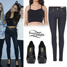 Ariana Grande The Honeymoon Tour Meet & Greet in Toronto Ariana Grande Outfits, Estilo Kylie Jenner, Ariana Grande Dangerous Woman, Teen Fashion, Fashion Outfits, Bralette Tops, Queen, Her Style, My Outfit