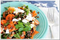 Lentil Goat Cheese Salad - I've got most of these ingredients in my kitchen already.