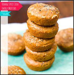 Orange Spice Chia Energy Maca Muffins #vegan