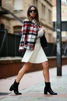 Zara coat, skirt and boots