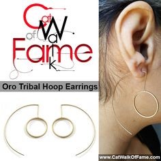Shop these Oro Tribal String Hoop Earrings at www.CatWalkOfFame.com