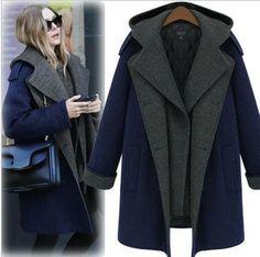 Navy Wool Coats Ladies