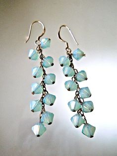 Dangle Sterling Silver Earrings Opalescence by RenaissanceFair