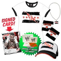 "WWEShop.com brings you the ultimate CM Punk package of this holiday season! The CM Punk WWE SuperFan Women's Tee Package is the  ""Best in the World"" gift for the ""Superstar"" in your life!    Limited time only. Available while supplies last. Get yours today!"