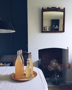 Elderflower & rhubarb cordial (goes very well with gin :) #countryliving