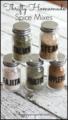 Make cheap homemade spice mixes with ingredients in your house!  So easy and fast for instant dinners!