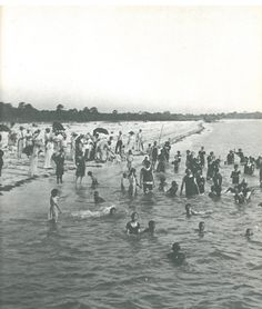 SARASOTA: Townspeople loved to cool off at the beach.  But this shot of Siesta Key from the early 1900s shows but a small crowd. Also during this time period, stores would close early on Thursdays so that people could enjoy the beach.