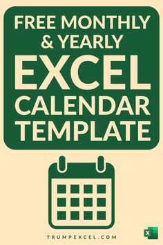 Here is a simple dynamic Excel monthly and yearly calendar that you can download and use. It's dynamic Excel calendar so you can change the year and the month and it would automatically update to give you the calendar for that specific month/year. I want to make sure that it can easily be printed in a single page so that you can use it as a printable Microsoft Excel, Excel For Beginners, Excel Calendar Template, Excel Hacks, Paracord Tutorial, Pivot Table, Office Programs, Buying A New Home, Resume Tips