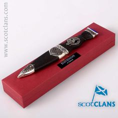 Davidson Clan Crest Sgian Dubh. Free worldwide shipping available