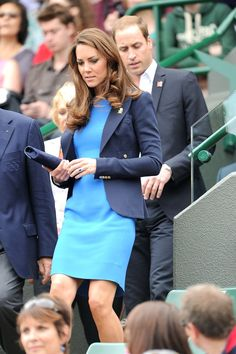 Kate Middleton at the Olympics. She loves this perfect navy blue blazer. and we do too!