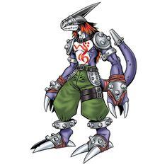"Strikedramon - ""Commando Dragon"", Champion level Dragon Man digimon"