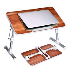 Laptop Table Portable Bed Desk Foldable Sofa Breakfast Tray Adjustable Standing #HomeIdeas