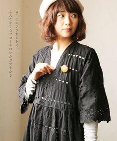 """Rakuten (lluvia) """"mori"""" Bueno colon y Rui bordado dulce de Petit broche. 2 días de octubre de venta 22 horas nueva: cawaii"""