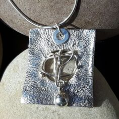 Sterling Silver Abstract Pendant £65.00