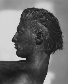 Herb Ritts, 'Tony with Black Face, Profile, Los Angeles', 1986