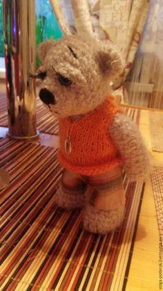Купить Вязаный Мишка - Вязание крючком, вязаная игрушка, подарок, мишка ручной работы