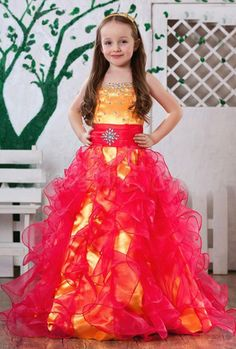 74.25$  Buy here - http://alijfe.worldwells.pw/go.php?t=32451706795 - Elegant Flower Girl Dress Sweet Beaded Belt Square Collar Girl Pageant Formal Dance Party Dresses Ruched Tulle Ball Gowns 2017 74.25$