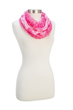 Great colors for Spring! Howard's Sheer Floral Infinity Scarf