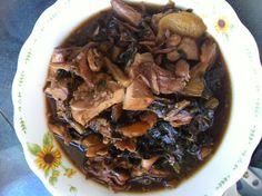 梅菜焖卤鸭 preserved vegetable with braised duck