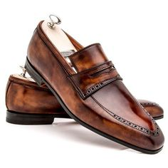 868812560b7759 Bontoni  Tancredi  loafer in a bruciato patina. Sneaker Dress Shoes