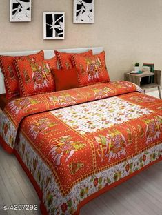 Bedsheets Eva Stylish Cotton Bedsheets  Fabric: Pure Cotton No. Of Pillow Covers: 2 Thread Count: 180 Multipack: Pack Of 1 Sizes:  Queen (Length Size: 100 in Width Size: 90 in Pillow Length Size: 27 in Pillow Width Size: 17 in)  Work : Printed Country of Origin: India Sizes Available: Queen *Proof of Safe Delivery! Click to know on Safety Standards of Delivery Partners- https://ltl.sh/y_nZrAV3  Catalog Rating: ★4 (14880)  Catalog Name: Eva Stylish Pure Cotton 100x90 Double Bedsheets Vol 1 CatalogID_609445 C53-SC1101 Code: 383-4257292-
