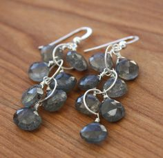 Labradorite Cluster Sterling Silver by YaniaCreations on Etsy, $53.00