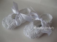 White baptism baby girls christening shoes by allthingsforbaby, $29.00