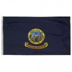 12 in. X 18 in. Nyl-Glo Idaho Flag http://www.pacificcoastflag.com/12-in-x-18-in-nyl-glo-idaho-flag.html