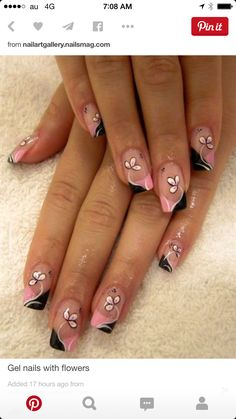 Just one nail decorated on each hand would be cute.