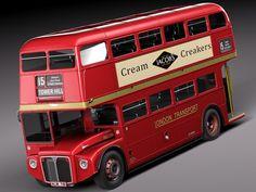 bus double london 3d 3ds