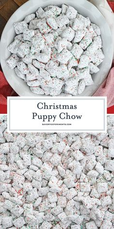 Christmas Puppy Chow transforms a traditional muddy buddy recipe into a festive ., Desserts, Christmas Puppy Chow transforms a traditional muddy buddy recipe into a festive Reindeer Chow mix! The perfect no-bake dessert for any party or event. Holiday Treats, Holiday Recipes, Easy Christmas Candy Recipes, Christmas Desserts Easy, Thanksgiving Desserts, Christmas Trash Recipe, Homemade Christmas Treats, Thanksgiving Sides, Holiday Foods