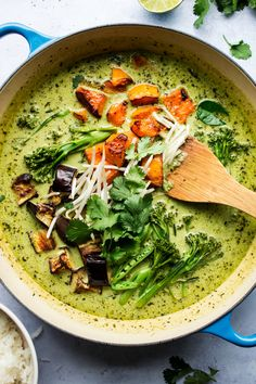 Vegan Thai green curry - Lazy Cat Kitchen