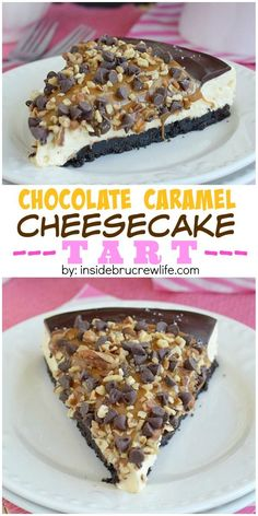 Layers of caramel cheesecake, chocolate, pecans, and caramel make this a must make dessert!!!