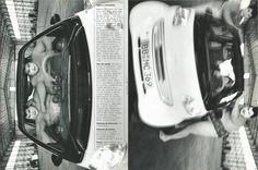 """Luchadores de Sumo, por Max Vadukul. Extracto del libro promocional Smart """"Reduce to the max"""" 1998."""