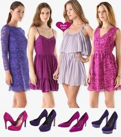 #purple bridesmaid dresses matching purple #shoes