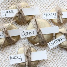 See how to make these charming place card holders. It's quick and easy and makes a big impact!