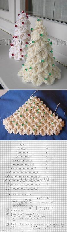 Knitting Patterns Christmas By the New Year: herringbone crochet 'crocodile' tracery Crochet Christmas Decorations, Crochet Christmas Ornaments, Holiday Crochet, Crochet Snowflakes, Christmas Crafts, Irish Crochet, Diy Crochet, Crochet Crafts, Crochet Projects
