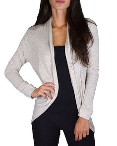 Solid Full Sleeves Open Front Shrug-id.31620