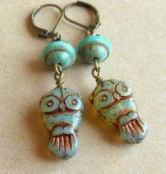 Owl Earrings. $17.00, via Etsy.