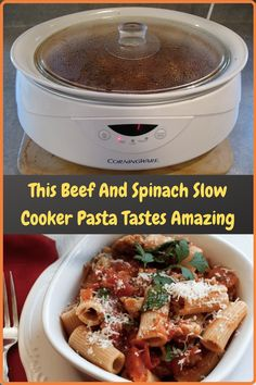 #Beef #Spinach #Slow #Cooker #Pasta #Tastes #Amazing Baby Food Recipes, Cooking Recipes, Crockpot Recipes, Slow Cooker Pasta, Acrylic Nail Designs, Acrylic Nails, Chic Wedding, Cute Couples, Fish Snacks
