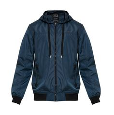 Sport Windbreaker by 3SECOND. Windbreaker jacket with navy blue color, made from nylon fabric, perfect windbreaker for running or for cycling, side pocket, and it has hoodie. This long sleeve wind breaker sure can go casual or sporty.  http://www.zocko.com/z/JJpTu