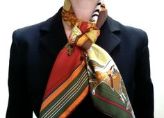 My favorite professional way to wear Hermes scarves -- the friendship knot
