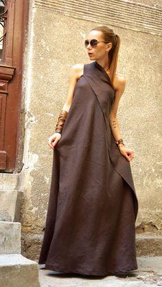 XXL, XXXL nueva Maxi marrón vestido vestido Kaftan ropa Vestido de un vestido extravagante largo vestido fiesta vestido de AAKASHA A03144