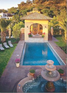 The pool and pool house! (Actually in Mexico)